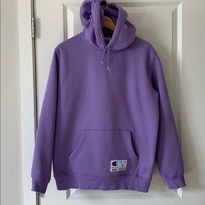 Supreme x champion hoodie. Light purple size S